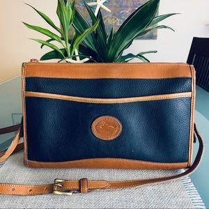 Dooney & Bourke Navy Blue Zip Top Shoulder Bag